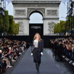 PARIS, FRANCE - OCTOBER 01:  Doutzen Kroes walks the runway during Le Defile L'Oreal Paris as part of Paris Fashion Week Womenswear Spring/Summer 2018 at Avenue Des Champs Elysees on October 1, 2017 in Paris, France.  (Photo by Pascal Le Segretain/Getty Images for L'Oreal Paris)