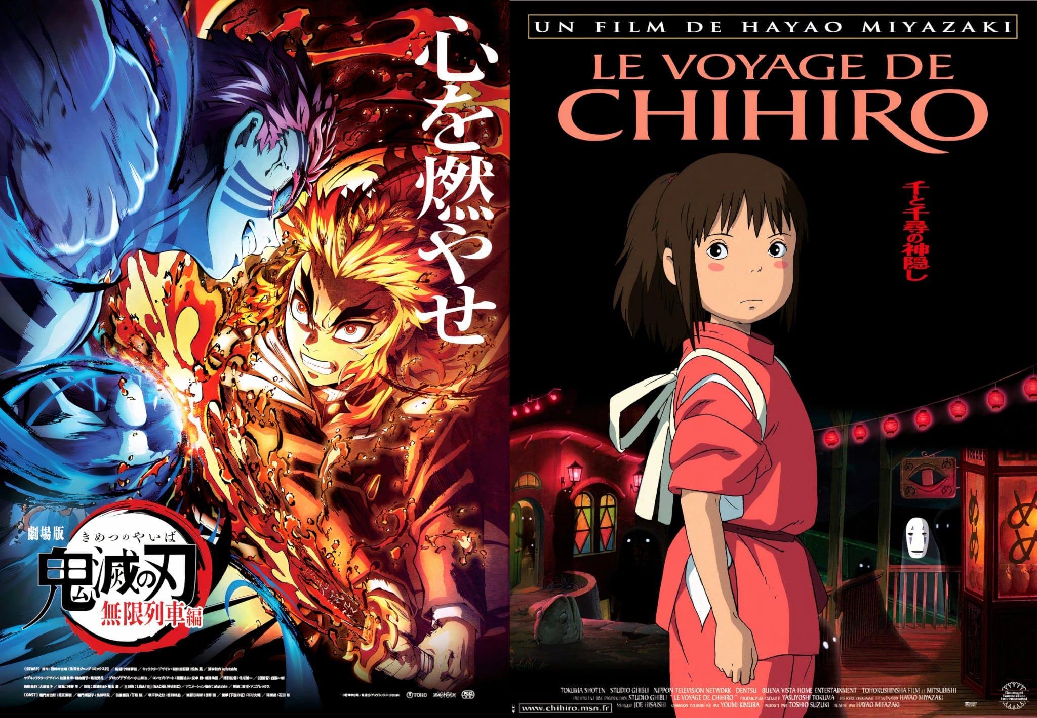 film demon slayer voyage de chihiro